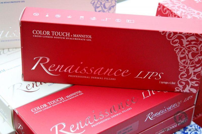Филлер (filler) Renaissance Lips Color Touch для губ: гидрорегенерант с маннитолом
