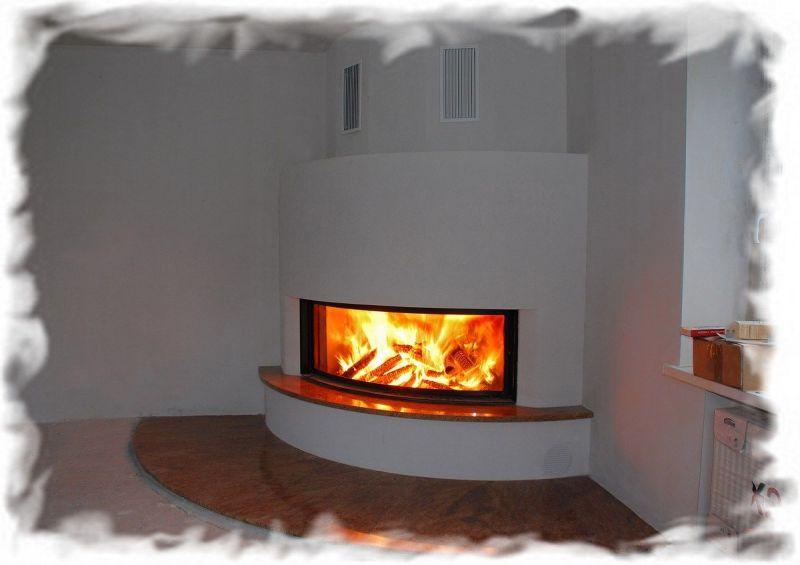 Отопление загородного дома в Ленинградской области (Ленобласти): установка камина